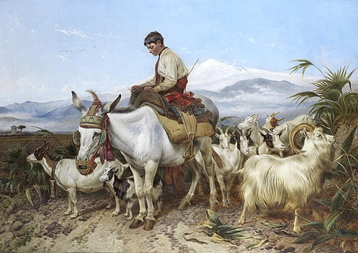 Richard Ansdell The Vega of Granada returning from pastures