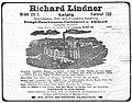 Richard Lindner, Leipzig, Rauchwaren-, Fell-, Produkten-Handlung, Dampf-Rauchwaren-Zurichterei u. Färberei, Leipzig-Wahren (Anzeige 1912).jpg