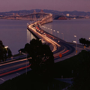 Richmond–San Rafael Bridge - The Richmond–San Rafael Bridge from its western terminus
