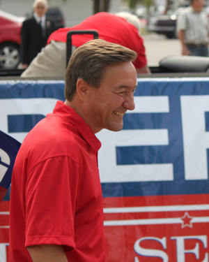 Rick Berg - Berg, at a parade in West Fargo.