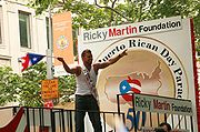 Ricky Martin at the National Puerto Rican Day Parade