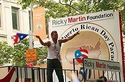 Ricky Martin at the National Puerto Rican Day Parade