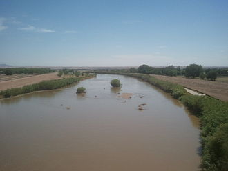 El Paso, Texas - Rio Grande in west El Paso near New Mexico state line