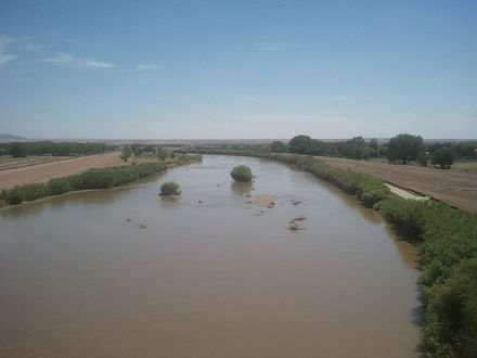 Rio Grande in west El Paso near the New Mexico state line Rio Grande EP Upper Valley.jpg