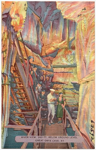 Great Onyx Cave - Postcard c.1950