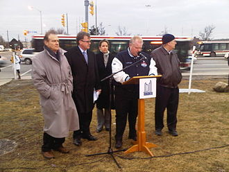 Mayoralty of Rob Ford - Ford speaking about subway extension to Scarborough in February 2012