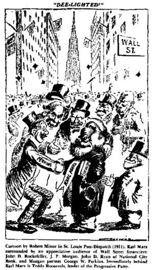 Robert Minor - An example of Minor's early pen-and-ink work in the St. Louis Post-Dispatch (1911).