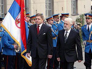 Mirko Cvetković - Mirko Cvetković with Slovak Prime Minister Robert Fico.