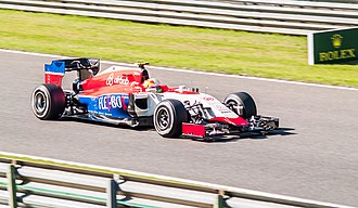 Roberto Merhi - Merhi competing in the 2015 Belgian Grand Prix.