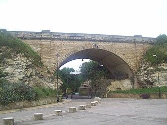 Roker Park (park) - Image: Roker Park Ravine bridge