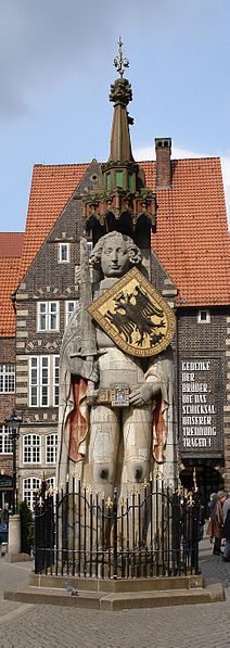 The Roland statue of Bremen