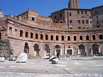 Shopping - Remains of marketplace and retail shops at Trajan's Forum in Rome