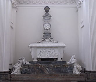 Danish sculpture - Johannes Wiedewelt:Frederik V's sarcophagus (1769) in Roskilde Cathedral