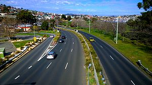 Rosny Hill Road - Rosny Hill Road, in-between Eastlands and Rosny College