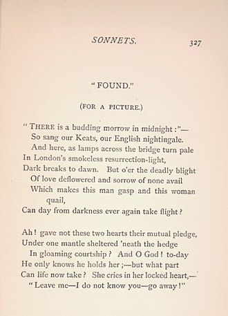 Found (Rossetti) - Image: Rossettis Found text