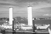 Rotorship Alcyone in harbour.jpg