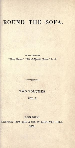My Lady Ludlow - First edition title page from Round the Sofa; Vol 1 contains My Lady Ludlow in its entirety.