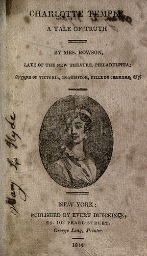 Charlotte Temple - Title page of 1814 edition