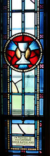 Royal Military College of Canada Yeo Hall Saint Martin Protestant Chapel memorial window to Kris Gammeljord (Chalice).jpg