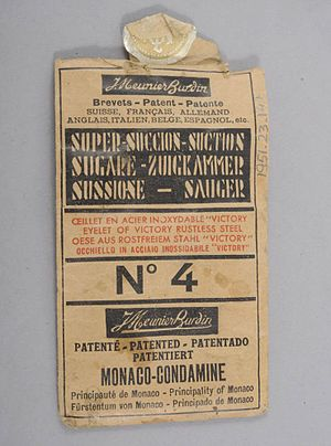 Economy of Monaco - Denture adhesion rings made in Monaco, Early to Mid 20th Century