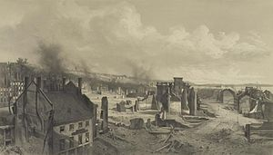 1866 Great fire of Portland, Maine - Ruins of the Great Fire at Portland, Me., 1866, by J. E. Baker