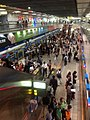 Rush hour at Zhongxiao Dunhua MRT Station, Taipei - panoramio (1).jpg