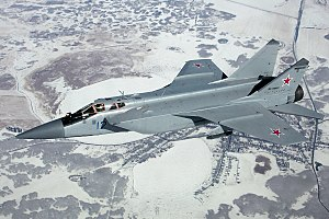 Mikoyan MiG-31 - A MiG-31DZ in flight over Russia, 2012