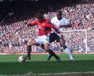Ruud van Nistelrooy - Van Nistelrooy (left) playing for Manchester United in 2004