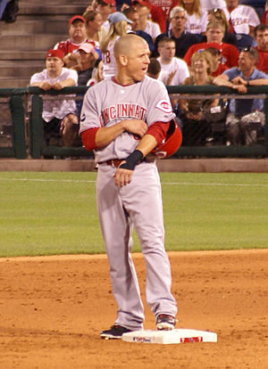 Ryan Freel - Freel of the Cincinnati Reds on second base in 2007