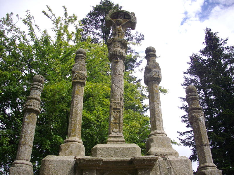 Calvary of Saint Susanna chapel of Sérent (Morbihan, France)