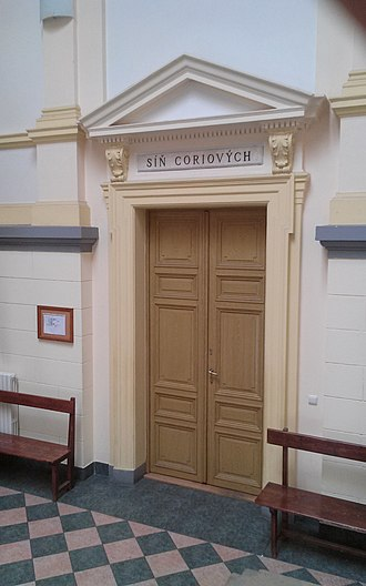 First Faculty of Medicine, Charles University in Prague - Image: Síň coriových