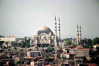 Süleymaniye Mosque - View of the mosque from Galata Tower