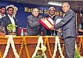 S. Jaipal Reddy presenting the National Science and Technology Communication Award to Shri G. Tomba Sharma, Imphal, at the National Science Day Celebrations, in New Delhi on February 28, 2013.jpg
