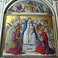 S. domenico, transetto sx, benvenuto di giovanni, madonna e 4 santi con pietà, 1483, 02.jpg