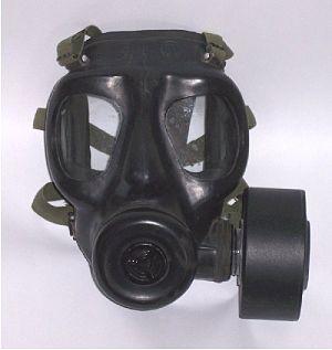 S6 NBC Respirator - A S6 respirator with a filter