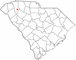 Location of Simpsonville, South Carolina