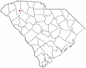 Simpsonville, South Carolina - Image: SC Map doton Simpsonville