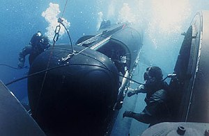 United States Navy Experimental Diving Unit - SEALs using SEAL Delivery Vehicle