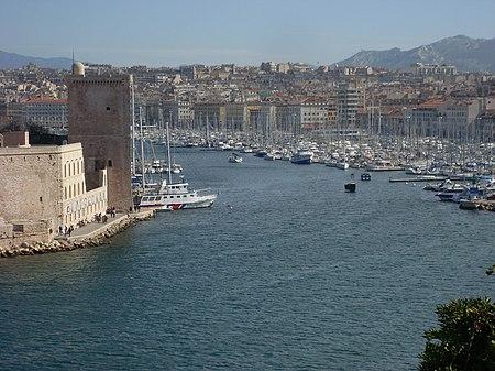 Le Vieux port de Marseille vu du Pharo