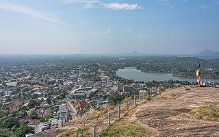 Kurunegala City in Sri Lanka