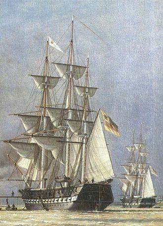 Reichsflotte - Image: SMS Eckernförde & SMS Deutschland (1849)