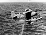 SOC-1 Seagull is hoisted out of the water 1943.jpg