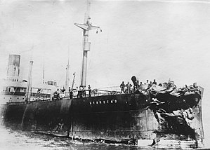 RMS Empress of Ireland - Damage sustained by the SS Storstad after its collision with the RMS Empress of Ireland.