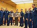 STS-124 astronauts and Yasuo Fukuda 20080729.jpg