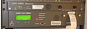 Emergency Alert System - A Sage EAS ENDEC unit.