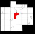 Saginaw County Michigan townships James highlighted.png