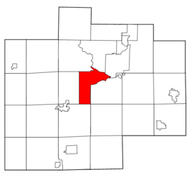 Saginaw County Michigan townships James highlighted.png