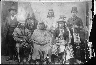Cayuse people - Image: Sahaptin tribal chiefs