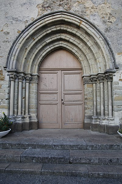 Fr:Église Saint-Médard de Saint-Mars-sous-Ballon: porche ouest.