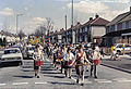 Saint George's day, Gordon Avenue, Bristol 1986.jpg